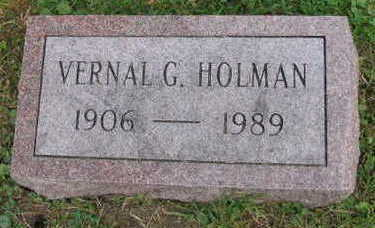 HOLMAN, VERNAL G. - Linn County, Iowa | VERNAL G. HOLMAN