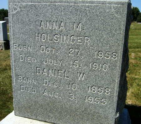 HOLSINGER, ANNA M. - Linn County, Iowa | ANNA M. HOLSINGER