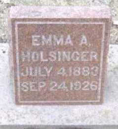 HOLSINGER, EMMA A. - Linn County, Iowa   EMMA A. HOLSINGER
