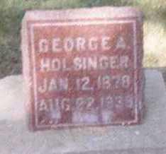 HOLSINGER, GEORGE A. - Linn County, Iowa | GEORGE A. HOLSINGER