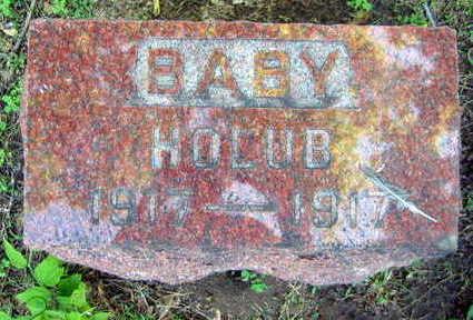 HOLUB, BABY - Linn County, Iowa   BABY HOLUB
