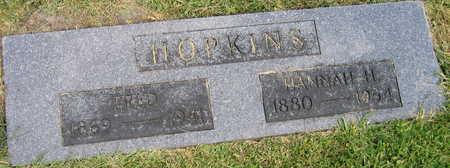 HOPKINS, HANNAH H. - Linn County, Iowa | HANNAH H. HOPKINS