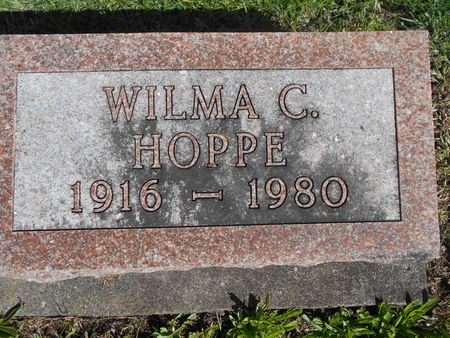 NIGHTINGALE HOPPE, WILMA C - Linn County, Iowa | WILMA C NIGHTINGALE HOPPE