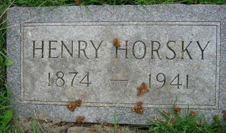 HORSKY, HENRY - Linn County, Iowa   HENRY HORSKY