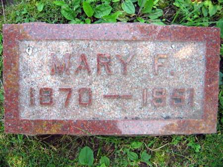 HORAK, MARY F. - Linn County, Iowa   MARY F. HORAK