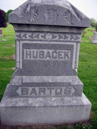 HUBACEK BARTOS, FAMILY STONE - Linn County, Iowa   FAMILY STONE HUBACEK BARTOS