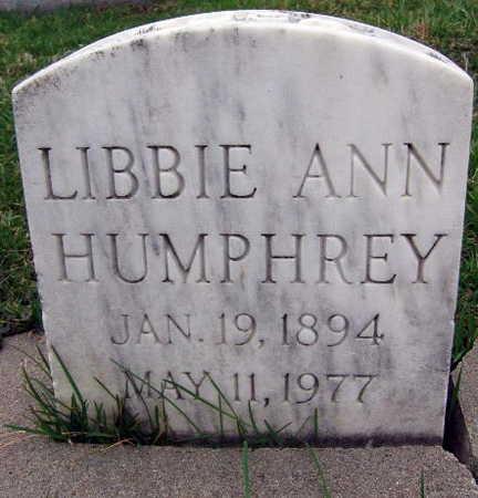 HUMPHREY, LIBBIE ANN - Linn County, Iowa | LIBBIE ANN HUMPHREY
