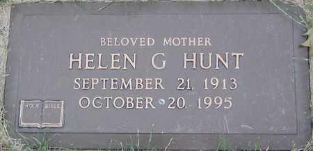 HUNT, HELEN G - Linn County, Iowa   HELEN G HUNT