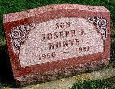 HUNTE, JOSEPH F. - Linn County, Iowa   JOSEPH F. HUNTE