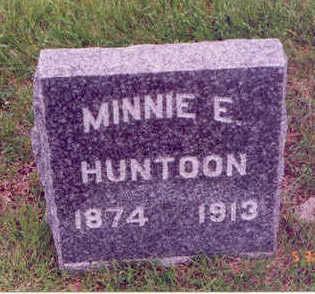 HUNTOON, MINNIE E. - Linn County, Iowa   MINNIE E. HUNTOON