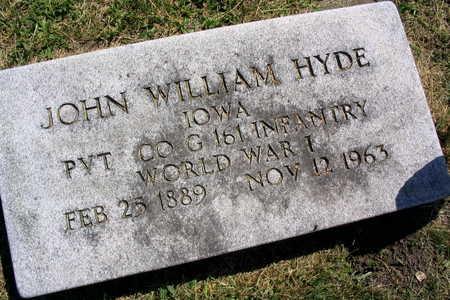 HYDE, JOHN WILLIAM - Linn County, Iowa | JOHN WILLIAM HYDE