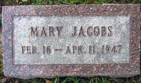 JACOBS, MARY - Linn County, Iowa   MARY JACOBS