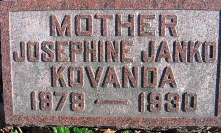JANKO KOVANDA, JOSEPHINE - Linn County, Iowa | JOSEPHINE JANKO KOVANDA