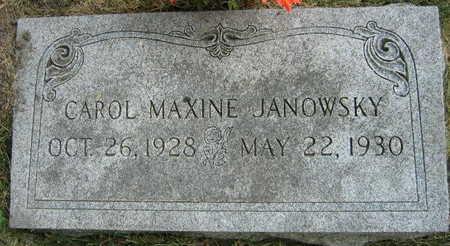 JANOWSKY, CAROL MAXINE - Linn County, Iowa   CAROL MAXINE JANOWSKY