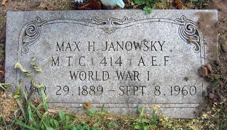 JANOWSKY, MAX H. - Linn County, Iowa | MAX H. JANOWSKY