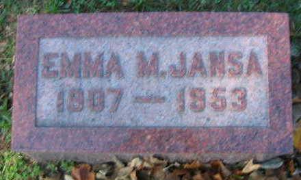 JANSA, EMMA M - Linn County, Iowa   EMMA M JANSA