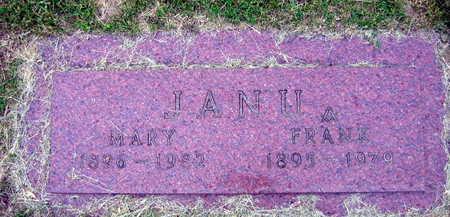 JANU, FRANK - Linn County, Iowa | FRANK JANU