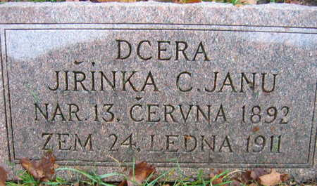 JANU, JIRINKA C. - Linn County, Iowa | JIRINKA C. JANU