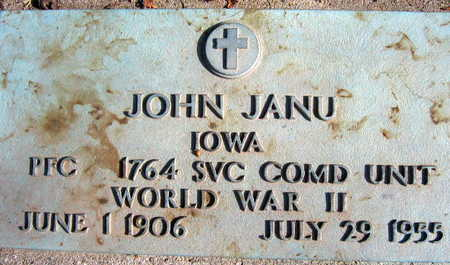 JANU, JOHN - Linn County, Iowa | JOHN JANU