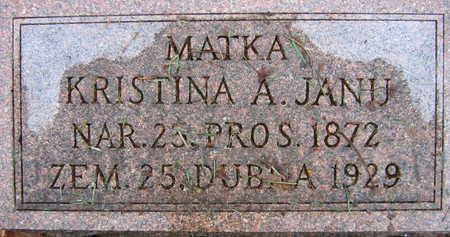 JANU, KRISTINA A. - Linn County, Iowa | KRISTINA A. JANU