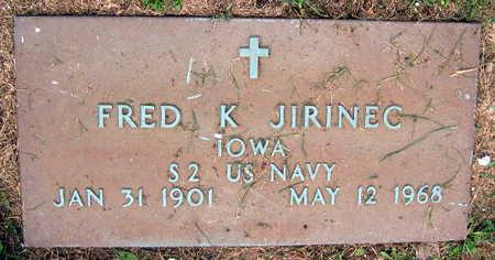 JIRINEC, FRED K. - Linn County, Iowa | FRED K. JIRINEC