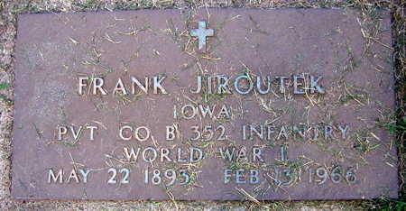 JIROUTEK, FRANK - Linn County, Iowa | FRANK JIROUTEK