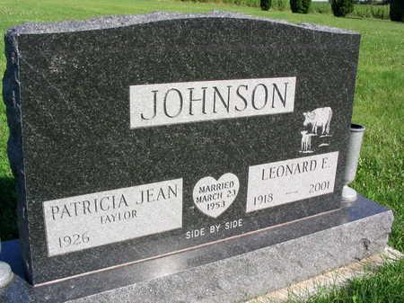 JOHNSON, LEONARD E. - Linn County, Iowa | LEONARD E. JOHNSON