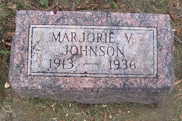 JOHNSON, MARJORIE V - Linn County, Iowa | MARJORIE V JOHNSON