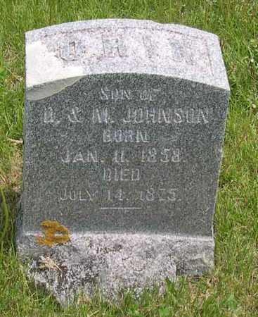JOHNSON, ORIN - Linn County, Iowa   ORIN JOHNSON