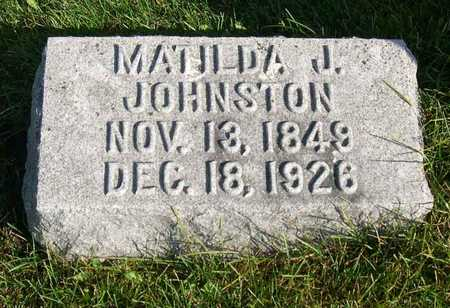 JOHNSTON, MATILDA J. - Linn County, Iowa | MATILDA J. JOHNSTON