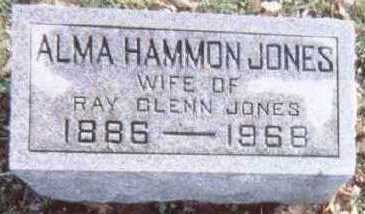 HAMMON JONES, ALMA - Linn County, Iowa | ALMA HAMMON JONES