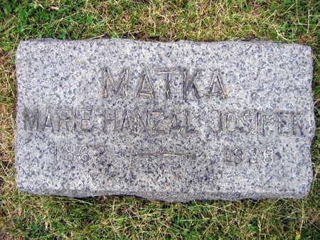 HANZAL JOSIFEK, MARIE - Linn County, Iowa | MARIE HANZAL JOSIFEK