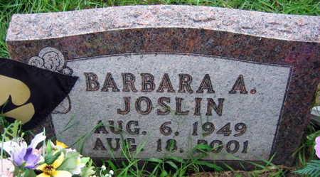 JOSLIN, BARBARA A. - Linn County, Iowa | BARBARA A. JOSLIN