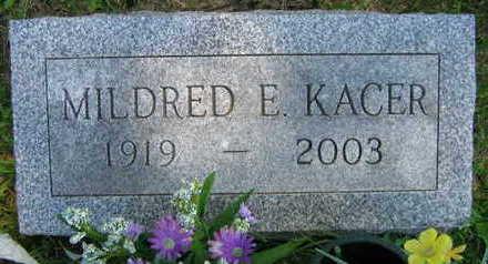 KACER, MILDRED E. - Linn County, Iowa   MILDRED E. KACER