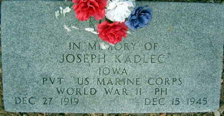 KADLEC, JOSEPH - Linn County, Iowa | JOSEPH KADLEC
