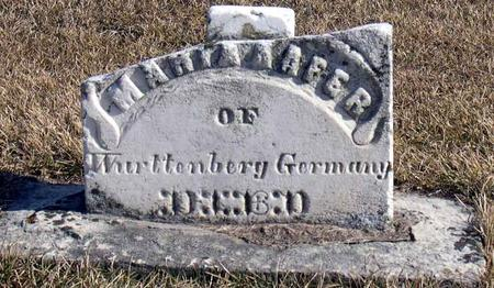 KAFER, MARY A. - Linn County, Iowa   MARY A. KAFER