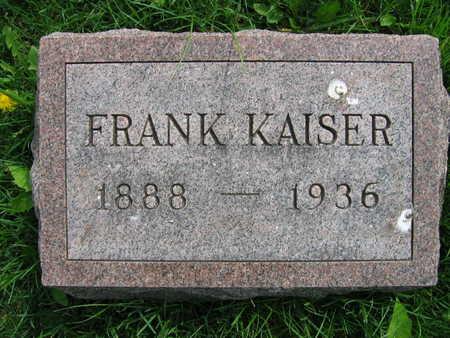 KAISER, FRANK - Linn County, Iowa | FRANK KAISER