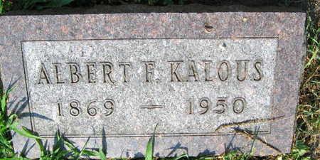 KALOUS, ALBERT F. - Linn County, Iowa | ALBERT F. KALOUS