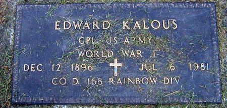 KALOUS, EDWARD - Linn County, Iowa | EDWARD KALOUS