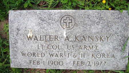KANSKY, WALTER A. - Linn County, Iowa | WALTER A. KANSKY