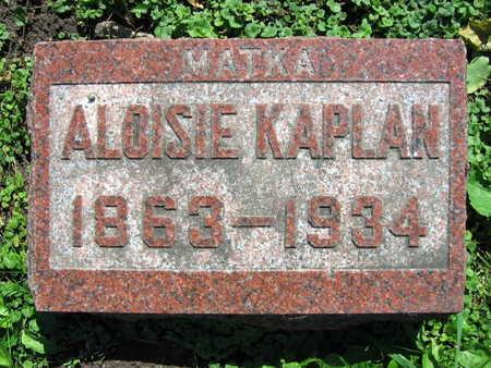 KAPLAN, ALOISIE - Linn County, Iowa | ALOISIE KAPLAN