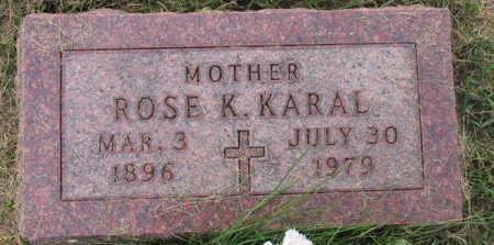 KARAL, ROSE K. - Linn County, Iowa | ROSE K. KARAL