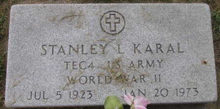 KARAL, STANLEY L. - Linn County, Iowa | STANLEY L. KARAL