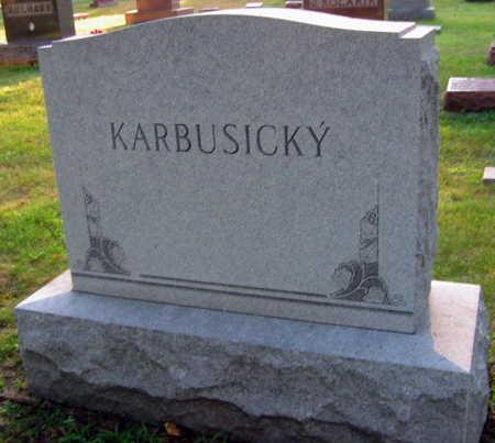 KARBUSICKY, FAMILY STONE - Linn County, Iowa | FAMILY STONE KARBUSICKY