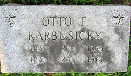 KARBUSICKY, OTTO F. - Linn County, Iowa | OTTO F. KARBUSICKY