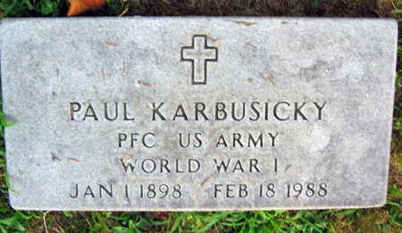 KARBUSICKY, PAUL - Linn County, Iowa   PAUL KARBUSICKY