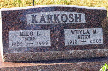 KARKOSH, WHYLA M. - Linn County, Iowa | WHYLA M. KARKOSH