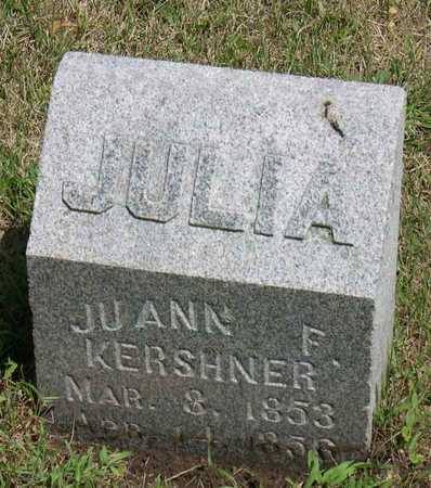 KERSHNER, JULIA (JUANN) F. - Linn County, Iowa | JULIA (JUANN) F. KERSHNER