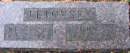 LETOVSKY, JOHN B. - Linn County, Iowa | JOHN B. LETOVSKY