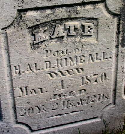 KIMBALL, KATE - Linn County, Iowa | KATE KIMBALL
